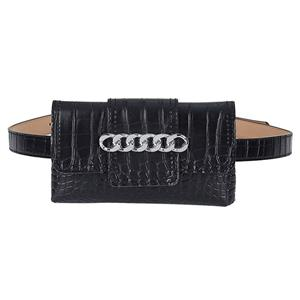 Crocodile Embossed Leather Handbag, Crocodile Embossed PU Leather Purse, Fashion Waist Belt, Waist Belt with Pouch, Waist Pouch Fashion Belt Bags, Waist Belt for Women, Waist Belt with Mini Purse, Casual Travel Waist Belt, Brown Girdle for Women, #N19163