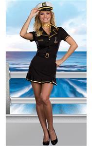 Cruise Ship Captain Costume, Sailor Captain Costume, High Seas Sailor Costume, #N8189