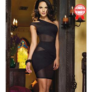 Crush Asymmetrical One Shoulder Dress N8492