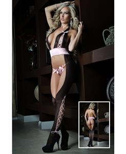 Cutout halter bodystocking, Halter Bodystocking, Temptation Bodystocking, #N6581