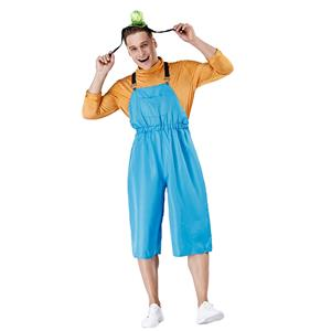 Overalls Costume, Orange Blue Costume, Cute Cosplay Costume, Cute Cosplay Set,The Parent-child Attire,Blue Bib Pants Cosplay Set ,#N19459