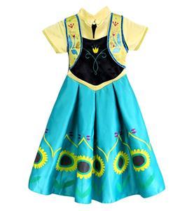 Lovely Frozen Girl Dress, Frozen Fever Kid Costume, Frozen Fever Anna Kid Costume, Cheap Girl Princess Dress, #N11009