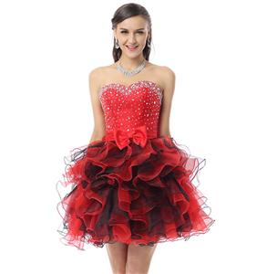 Cute Sweet 16 Dresses, Sexy Cocktail Dresses, Girls Dresses on sale, Hot Selling Red Ruffles Dress, Sweet 16 Dress for Cheap, #Y30042