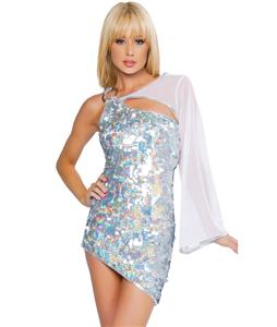 Cutout Sequin Mini Dress N4256