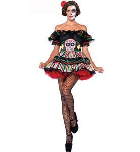 Day Of The Dead Doll Sexy Costume N9369