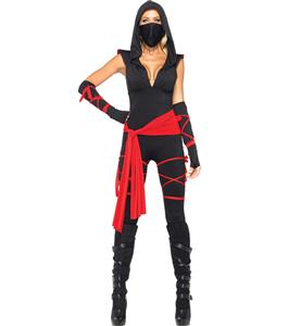 Ninja Vixen Adult Costume, Womens Ninja Costume, Black Ninja Warrior Costume, #N7784