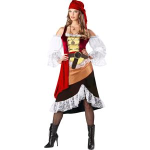 Deckhand Darling Costume, Darling Pirate Costume, Womens Adult Pirate Costume, #N6720