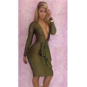 Deep V-Neck Cut Out Bodycon Dress N9207 d48857f75