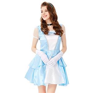 Fancy Fairy Tale Ball Costume, Sexy Blue Princess Costumes, Sexy Fairytale Princess Costume, Deluxe Blue Princess Costume, Deluxe Princess Dress, Princess Adult Cosplay Costume #N19430