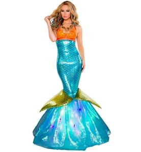 Under the Sea Costume, Beautiful Mermaid Costume, Sexy Aquarius Mermaid Costume, #N10704
