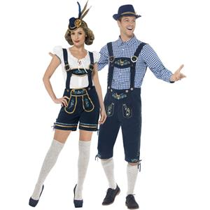German Beer Couple Costume, Oktoberfest Costume for Couples, Beer Couple Costume, Deluxe Bavarian Couples Costume, #N14604