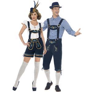 Deluxe Bavarian Oktoberfest Couple Costume N14604