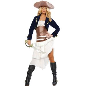 Deluxe Colonial Pirate Costume, Deluxe Pirate Sexy Costume, Women