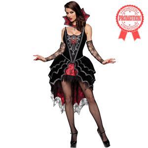 Deluxe Dark Webbed Mistress Costume N6311