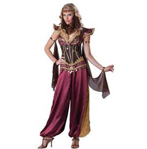 Desert Jewel Genie Costume,Genie Persian Princess Costume, Desert Jewel Adult Costume, #N6562