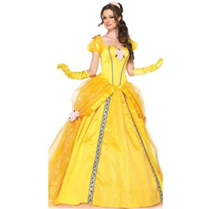 Princess Belle Costume Woman, Adult Belle Costume, Deluxe Disney Belle Costume, #N5943