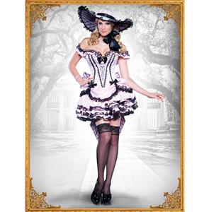 Deluxe Southern Belle Costume, Dixie Darling Costume, Noble Southern Beauty Costume, #N9048