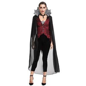 Deluxe Evil Queen Costume, Deluxe Vampire Queen Costume, Sexy Evil Vampire Queen Costume, Gothic Deluxe Queen Halloween Costume, Satin Evil Queen Costume #N19196