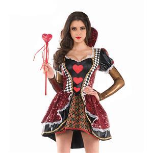 Deluxe Queen of Heart Costume, Heartless Queen Royal Body Shaper Costume, Queen Costume, #N11975