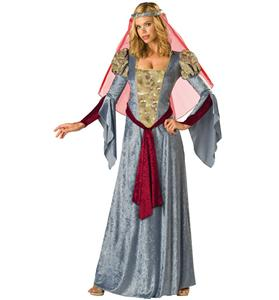 Medieval Maid Marian Costume, Medieval Wench Costume, Gray Wench Costume, #N5462