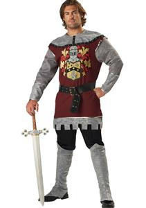 Knight Costumes, Deluxe Noble Knight Costume, Costumes for Men, #N4732