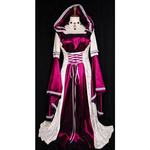 Purple Hooded Robe Costume, Deluxe Purple Hooded Robe, Deluxe Hooded Robe, #N5679