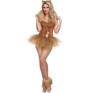 Queen Of The Jungle Costume, Adult Lion Costume, Lioness Costume, #N4815