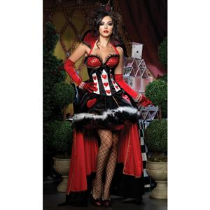 Deluxe Queen of Hearts Costume, Queen of Hearts Deluxe Costume, Deluxe Queen of Hearts Halloween Costume, #N5848