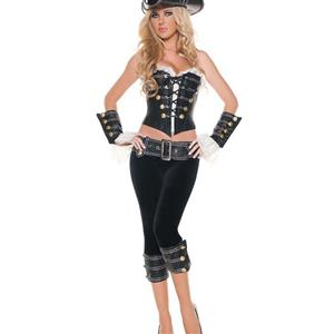 Deluxe Rogue Pirate With Pants Costume, Sexy Pirate Captain Costume, Female Pirate Costume, Pirate Costume with Pants, #N6288