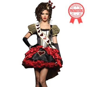 Deluxe Royal Red Queen Costume, Deluxe Queen of Hearts Costume, Deluxe Queen Costume, #N4417