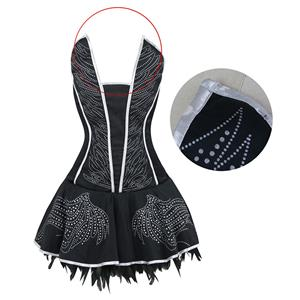 Deluxe Seductive Swan Costume, Feather Swan Costume, Black Swan Halloween Costume, #N16408