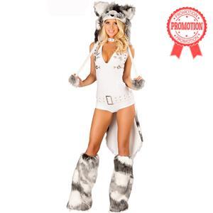 Deluxe Sexy White Husky Costume, Sexy Husky Costume, Husky Halloween Costume, #N6205