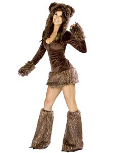 Deluxe Teddy Bear Costume, Sexy Teddy Bear Costume, Sexy Bear Costume, Sexy Brown Bear Costume, Bear Halloween Costume, #N4645