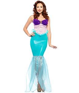 Undersea Ariel Adult Costume, Disney Undersea Ariel Costume, Deluxe Mermaid Princess Costume, #N5896