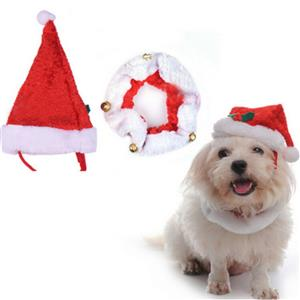Dog Santa Hat, Christmas Wearable Dog Accessories, Dog Christmas Costume, #J12352