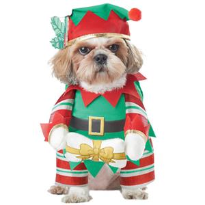 Dog Elf Costume, Pet Festive Clothing, Dog Christmas Elf Costume, Dog Clothes, #XT12357
