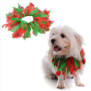 Pet Festive Accessories, Dog Christmas Collar with bell, Festive Dog Collars, Christmas Smoocher, #MS12362