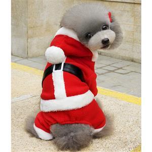 Dog Santa Costume, Pet Festive Clothing, Dog Christmas Costume, Dog Clothes, #XT12353