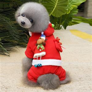 Dog Santa Costume, Pet Festive Clothing, Dog Christmas Costume, Dog Clothes, #XT12354