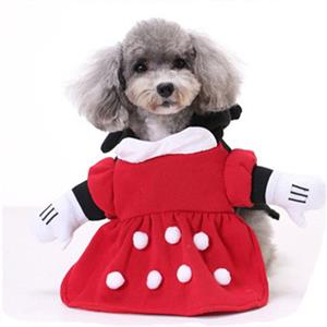 Dog Minnie Costume, Pet Dressing up Party Clothing, Dog