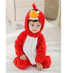 Anger Bird Jumpsuit Baby, Halloween Bird Costume Baby, Red Bird Climbing Clothes baby, #N6278