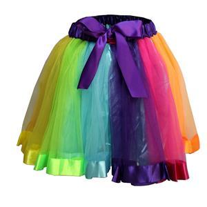 Corset Mini Skirt, Gothic Cosplay Skirt, Halloween Costume Skirt, Gothic Organza Short Skirt, Elastic Skirt, Irregular Cropping Skirt, Lovely Mini Skirt, #HG20209