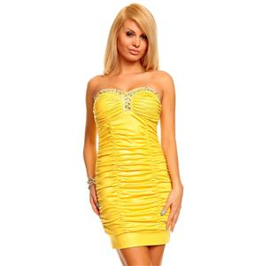 Yellow Dress Tentation, Sexy Yellow Dress, Yellow Mini Dress, #N5146