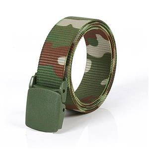 Camouflage Soldier Wasit Belt, Fashion Durable Camouflage Nylon Waist Belt, Men