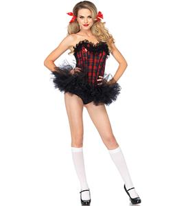 Easy A Schoolgirl Costume Kit, School Girl Costume Kit, Plaid Schoolgirl Kit, #N8133