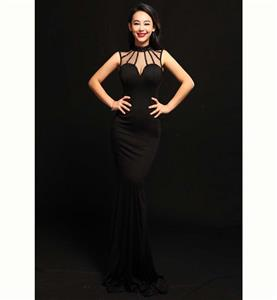 Plus Size Dresses, Fashion Black Long Gown, Formal Evening Dresses, Party Dresses for Women, Pageant Dress, #N11179