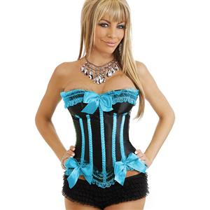 Sexy Corsets, Satin Corset, Lingerie, Corsets, Lace Corset, Sexy Lace Overbust Corset, Strapless Overbust Corset, #N4016
