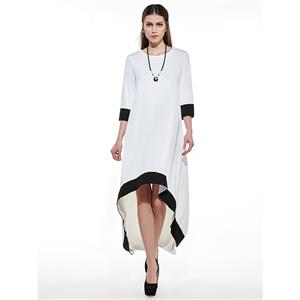Fashion Cotton Blends Long Dress, Women