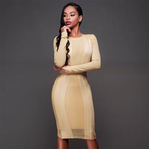 Fashion Nude Dress, Lady Casual Dress, Women