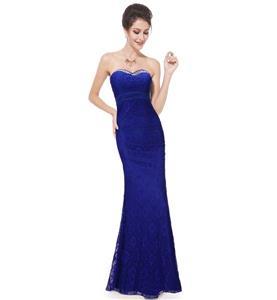 Royalblue Long Evening Dress, Lace Dress for Women, Evening Party Dress for Women, Sexy Sweetheart  Sleeveless Lace Dress, Plus Size Dress, #N11131